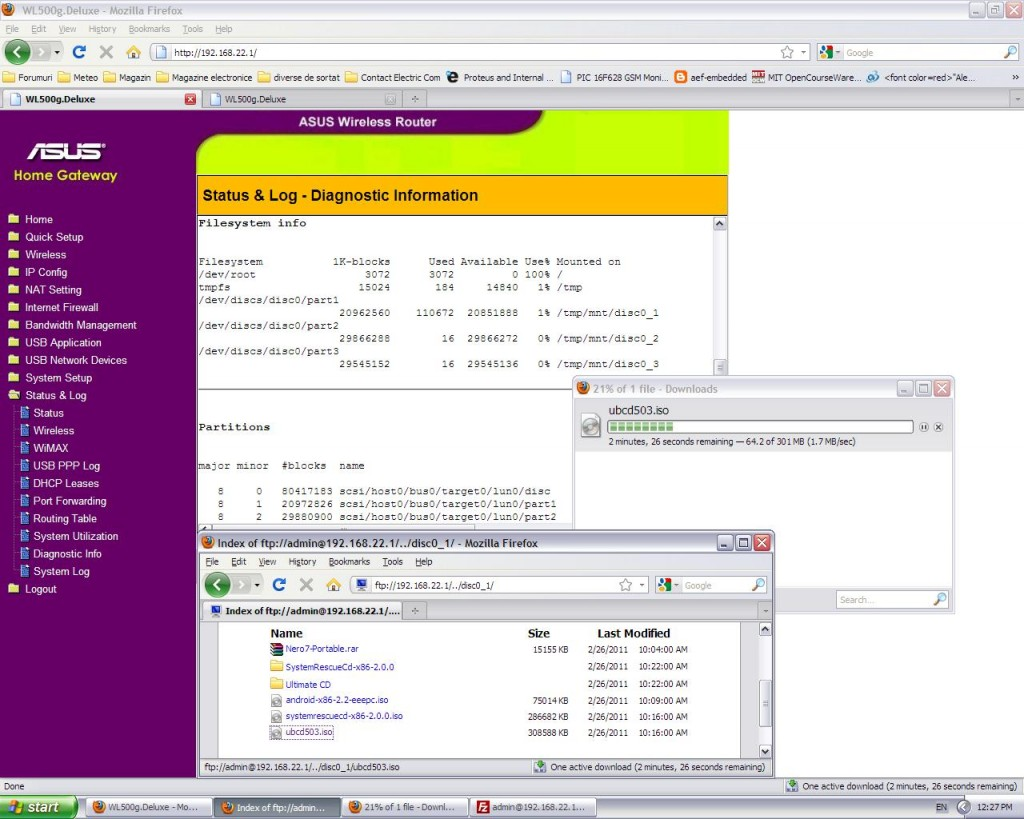 FTP Server-HDD-80GB_3part si Download-1.7MB/s
