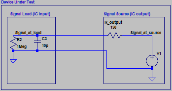 equivalent schematic of an IC to IC signal