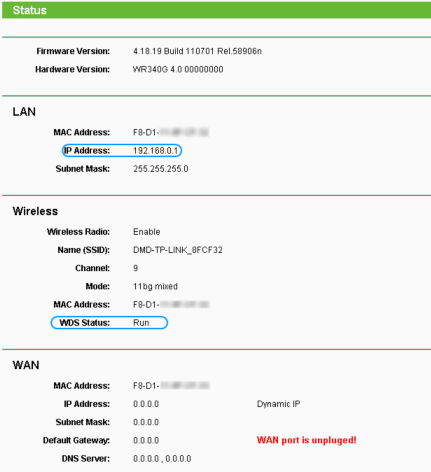 Adresa de IP pe LAN se poate schimba din Network -> LAN -> IP Address: